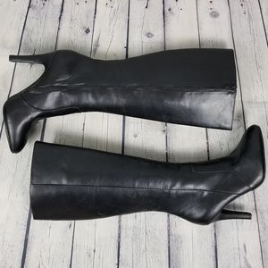 WORTHINGTON | faux leather side zip tall boots